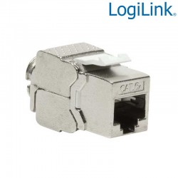 Conector Hembra RJ45 STP Cat.6A Keystone 180º, Slim Logilink NK4003