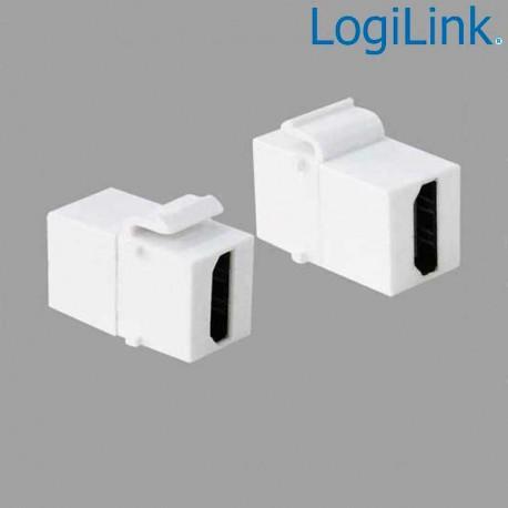 Logilink NK0014 - Acoplador Keystone en linea HDMI Hembra-Hembra | Marlex Conexion