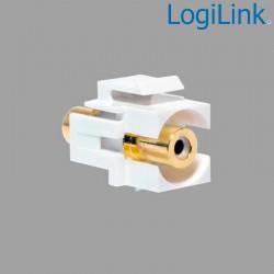 Acoplador Keystone en linea RCA Hembra-Hembra Blanco Logilink NK0022