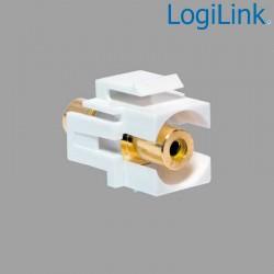 Acoplador Keystone en linea RCA Hembra-Hembra Amarillo Logilink NK0023