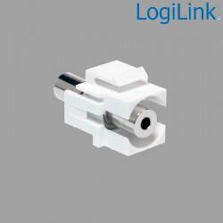 Acoplador Keystone en linea Jack 3,5mm Hembra-Hembra Logilink NK0029