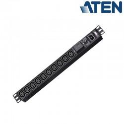 PDU Básica 1U de 10 Tomas C13, con protección sobretensión,10A Aten PE0110SG