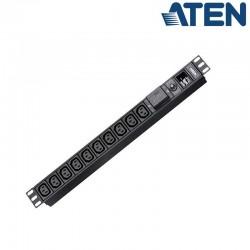 PDU Básica 1U de 10 Tomas C13, con protección sobretensión,16A Aten PE0210SG