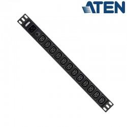 PDU Básica 1U de 12 Tomas C13, con protección sobretensiión, 16A Aten PE0212G