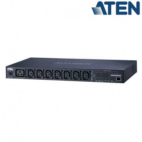 Aten PE6208G - PDU eco 1U de 7 Tomas C13 y 1 C19, 16A | Marlex Conexion