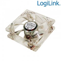 Ventilador 12v 120x120x25, 4 leds color azul Logilink FAN104
