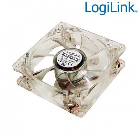 Logilink FAN104 - Ventilador 12v 120x120x25, 4 leds color azul | Marlex Conexion