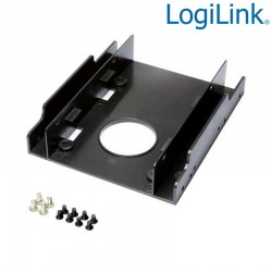 Logilink AD0010 - Soporte para 2 HDD/SSD de 2,5'' en Bahia de 3,5'' | Marlex Conexion