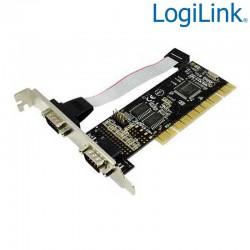 Logilink PC0016 - Tarjeta PCI de 2 Puertos RS-232 | Marlex Conexion