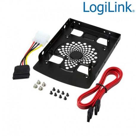 Logilink AD0011 - Soporte para 2 HDD/SSD de 2,5'' en Bahia de 3,5''   Marlex Conexion