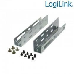 Logilink AD0009 - Soporte para 2 HDD/SSD de 2,5'' en Bahia de 3,5'' | Marlex Conexion