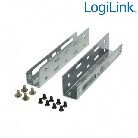 Logilink AD0009 - Soporte para 2 HDD/SSD de 2,5'' en Bahia de 3,5''   Marlex Conexion
