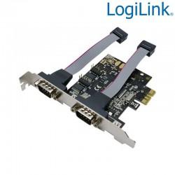 Logilink PC0031 - Tarjeta PCI Express de 2 Puertos RS-232 | Marlex Conexion