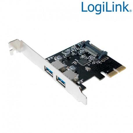 Logilink PC0080 - Tarjeta PCI Express 2 Puertos USB 3.1 Tipo A