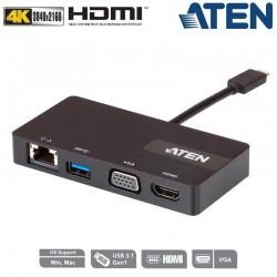 Aten UH3232 - Mini Dock Multi Puertos USB-C | Marlex Conexion