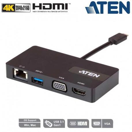 Aten UH3232 - Mini Dock Multi Puertos USB-C   Marlex Conexion