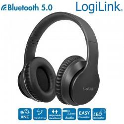 Logilink BT0053 | Auriculares Bluetooth 5.0 Cancelación del Ruido