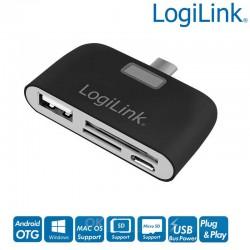 Logilink CR0044 - Lector de tarjetas USB-C