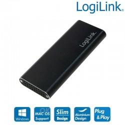 Caja externa, M.2 (NGFF)SATA, USB 3.1 Gen2 ( USB-C) logilink UA0314