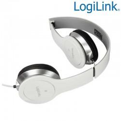 "Logilink HS0029 | Auriculares ""smile"" Estereo Plegable Blanco"