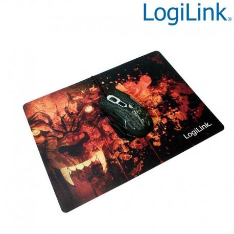 Logilink ID0141 - Alfombrilla Gaming ultra fina''Glimmer'', Diseño Lobo   Marlex Conexion