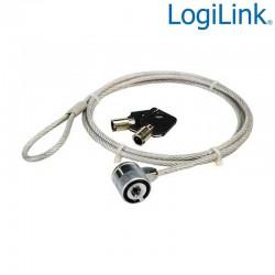 Logilink NBS003 - Cable antirrobo portatil con 2 llaves   Marlex Conexion