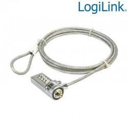 Logilink NBS002 - Cable antirrobo portatil con combinacion 4 cifras   Marlex Conexion