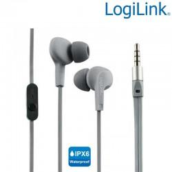 Logilink HS0041 - Auriculares in-ear Resistentes al Agua (IPX6) Gris