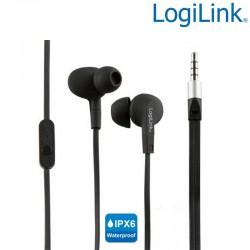 Logilink HS0042 - Auriculares in-ear Resistentes al Agua(IPX6) Negro | Marlex Conexion