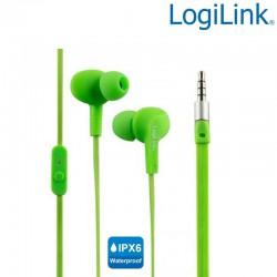Logilink HS0044 - Auriculares in-ear Resistentes al Agua(IPX6) Verde | Marlex Conexion