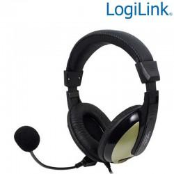 Auriculares Estereo con microfono, alta comodidad Logilink HS0011A