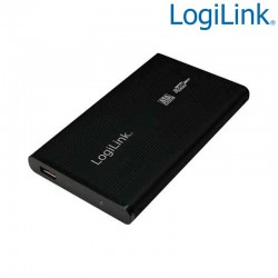 "Caja Externa 2,5"" Aluminio. Hdd Sata - USB 2.0, Negra Logilink UA0041B"