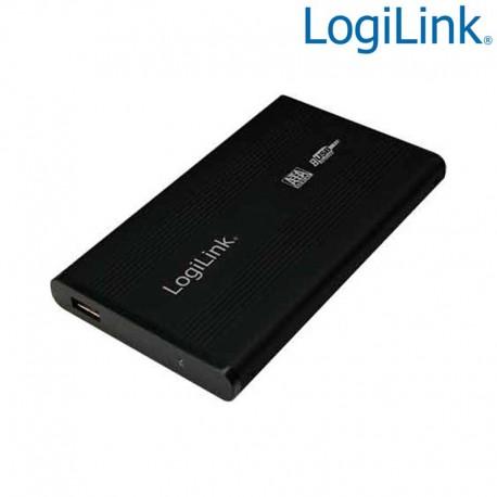 "Logilink UA0041B - Caja Externa 2,5"" Aluminio. Hdd Sata - USB 2.0, Negro"