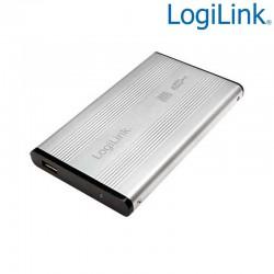 "Caja Externa 2,5"" Aluminio. Hdd Sata - USB 2.0, Plata Logilink UA0041A"