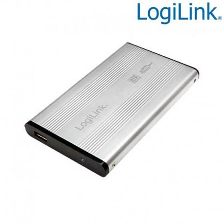 "Logilink UA0041A - Caja Externa 2,5"" Aluminio. Hdd Sata - USB 2.0, Plata"