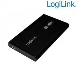 "Caja Externa 2,5"" Aluminio. Hdd Sata - USB 3.0, Negra Logilink UA0106"