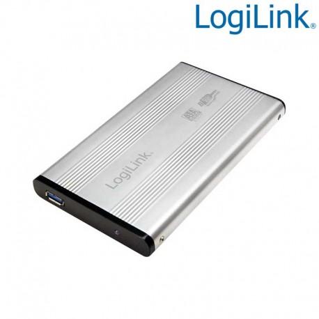 "Logilink UA0106A - Caja Externa 2,5"" Aluminio. Hdd Sata - USB 3.0, Plata"