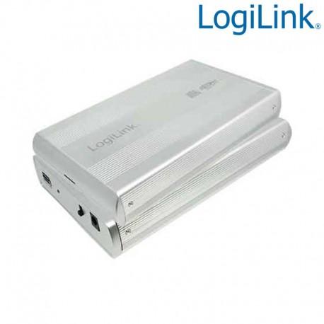 "Logilink UA0107A - Caja Externa 3,5"" Aluminio. Hdd Sata - USB 3.0, Plata"