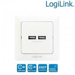 Toma de corriente USB x 2 Logilink PA0163