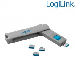 Logilink AU0052 - Bloqueo de puertos USB-C (1 llave + 4 cerraduras USB)