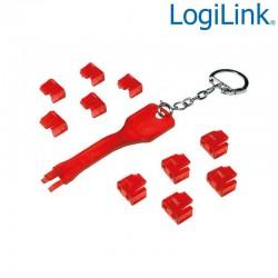 Logilink MP0043 - Bloqueo de puertos RJ45 (10 cerraduras), Sin Llave