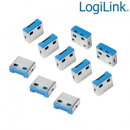 Logilink AU0046 - Bloqueo de puertos USB (10 cerraduras USB,Sin llave)