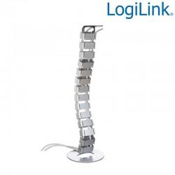 Logilink KAB0065 - Organizador Cables Vertical, Flexible, 800 x 68mm | Marlex Conexion