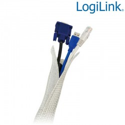Logilink KAB0007 - Cubre Cable FlexWrap, Diametro 32mm, 1,8m, Gris | Marlex Conexion