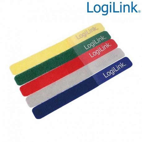 Logilink KAB0008 - Bridas Velcro de colores ( 5 pcs )   Marlex Conexion