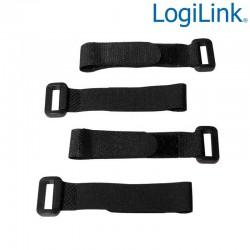 Logilink KAB0056 - Bridas Velcro Ajustables Negro ( 10 pcs ) | Marlex Conexion