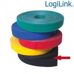 Logilink KAB0050 - Cinta de Velcro Negro ( 4m ) | Marlex Conexion