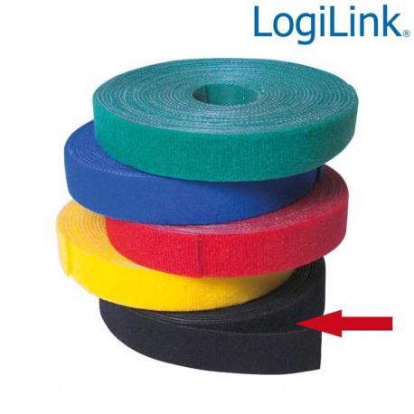 Logilink KAB0050 - Cinta de Velcro Negro ( 4m )   Marlex Conexion