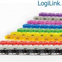 Logilink NZ0001 - Numerador de cables, 10 colores y 10 números (0 a 9)