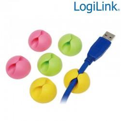 Organizador de Cable de Colores ( 6 pcs ) Logilink KAB0010